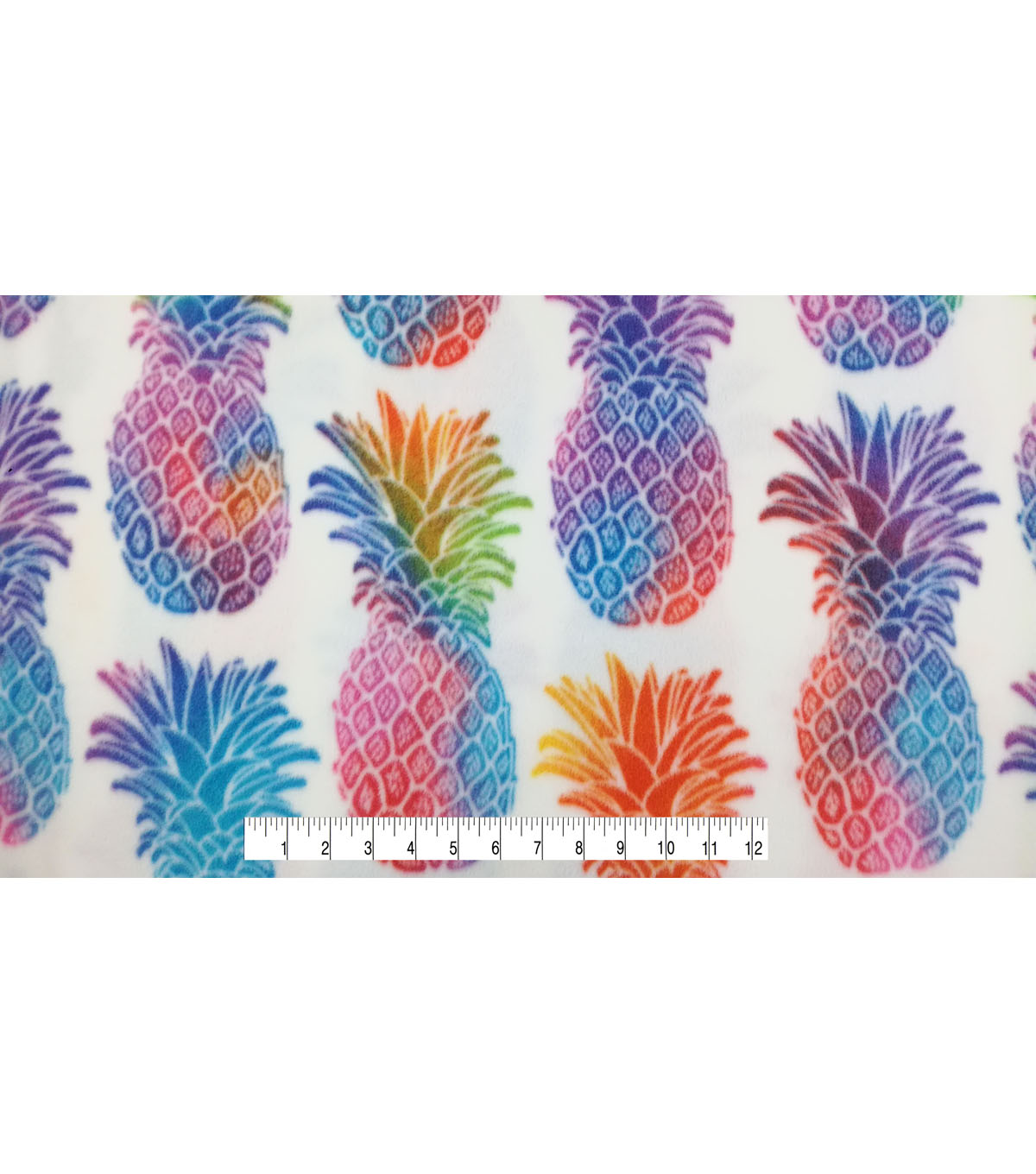 Anti-Pill Fleece Fabric -Bright Pineapple