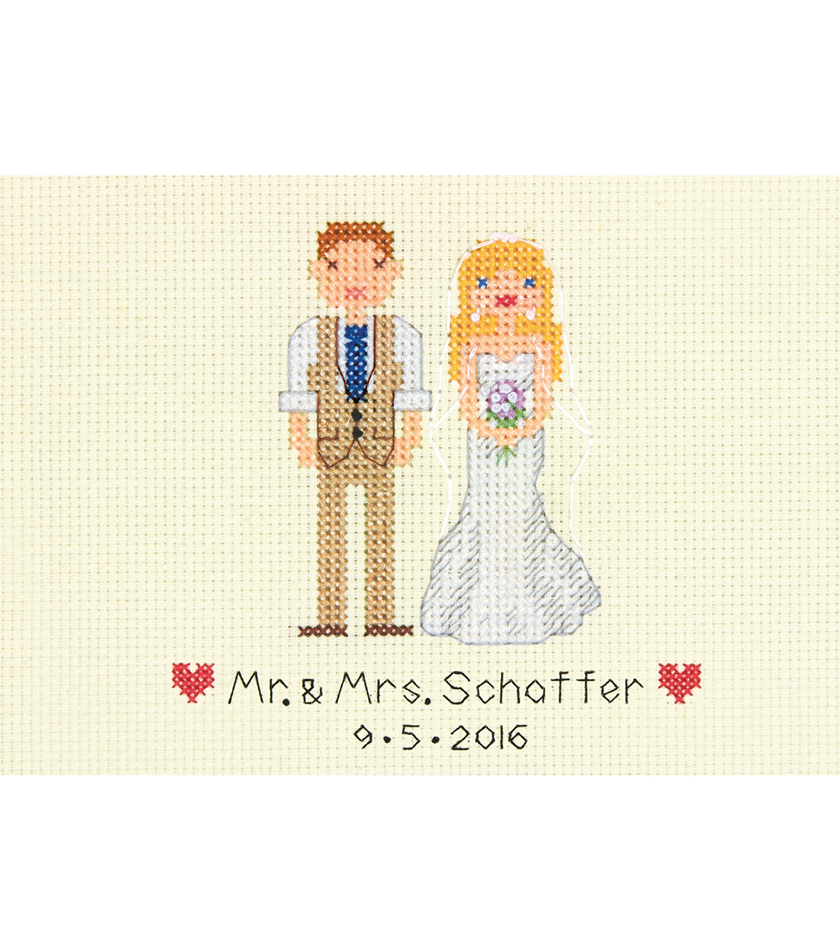 Wedding Marriage Big day Collage Counted Cross Stitch Kit