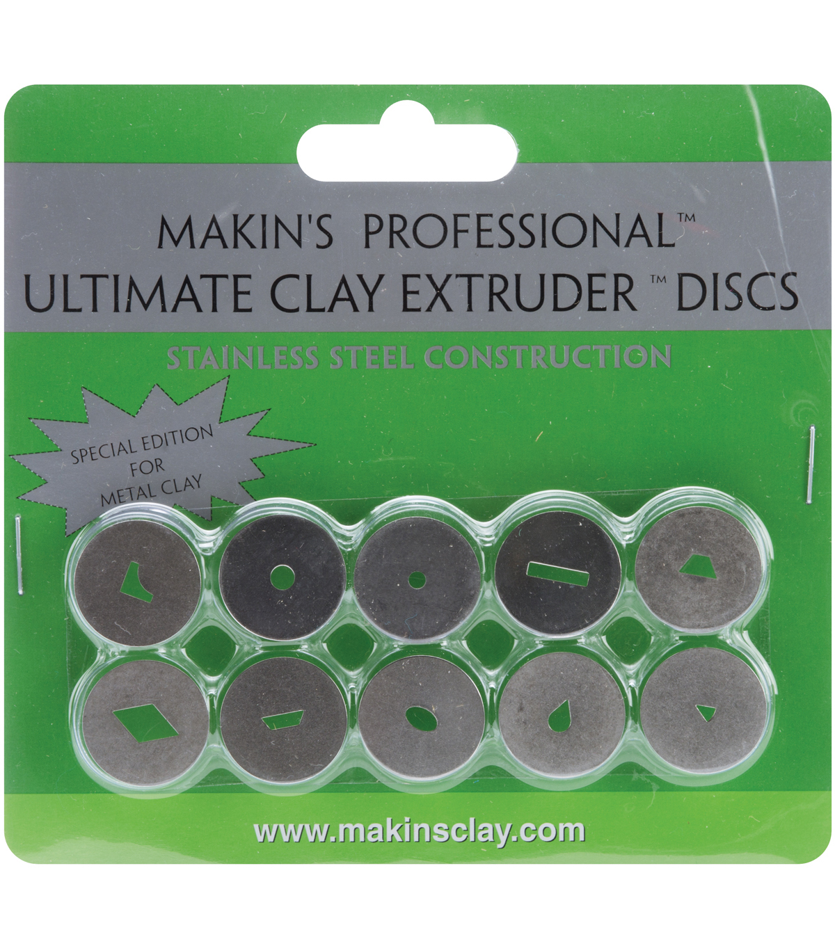 Makin\u0027s Professional Ultimate Clay Extruder Discs 10/Pkg-Stainless Steel For Metal Clay
