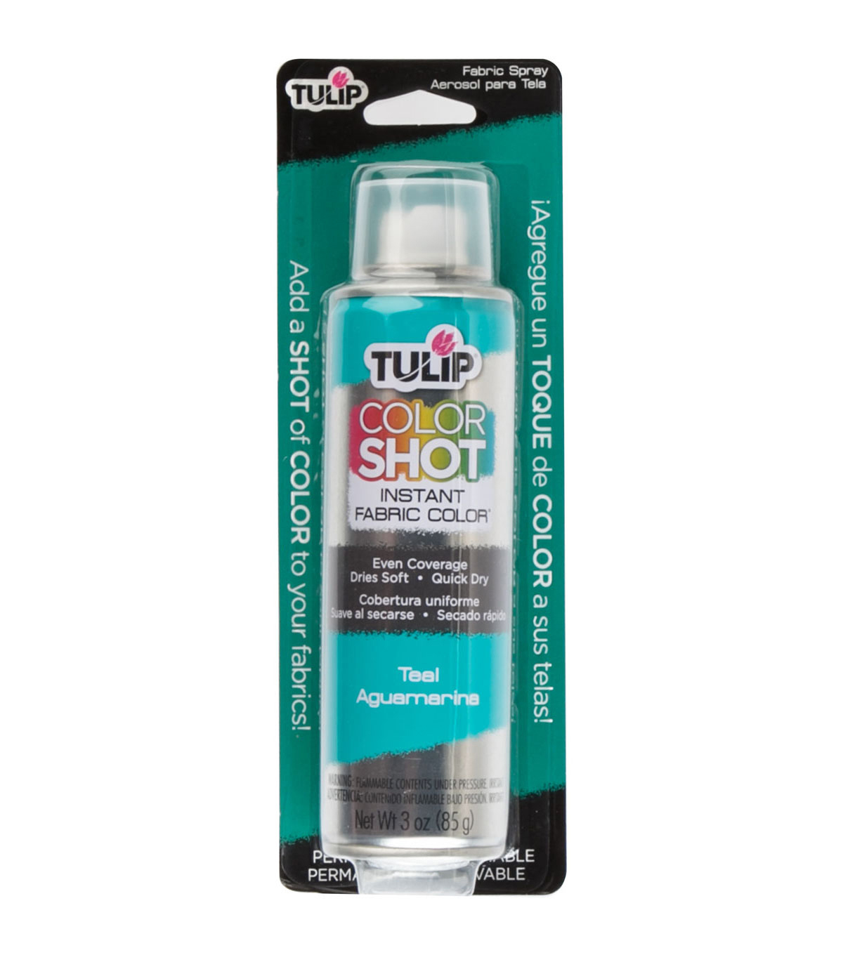 Tulip ColorShot Instant Fabric Color Spray 3oz, Teal