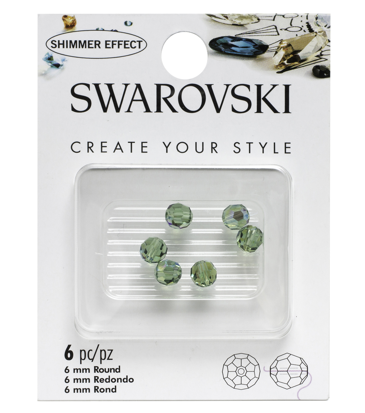 Swarovski 6mm Round Beads 6/Pkg-Erenite