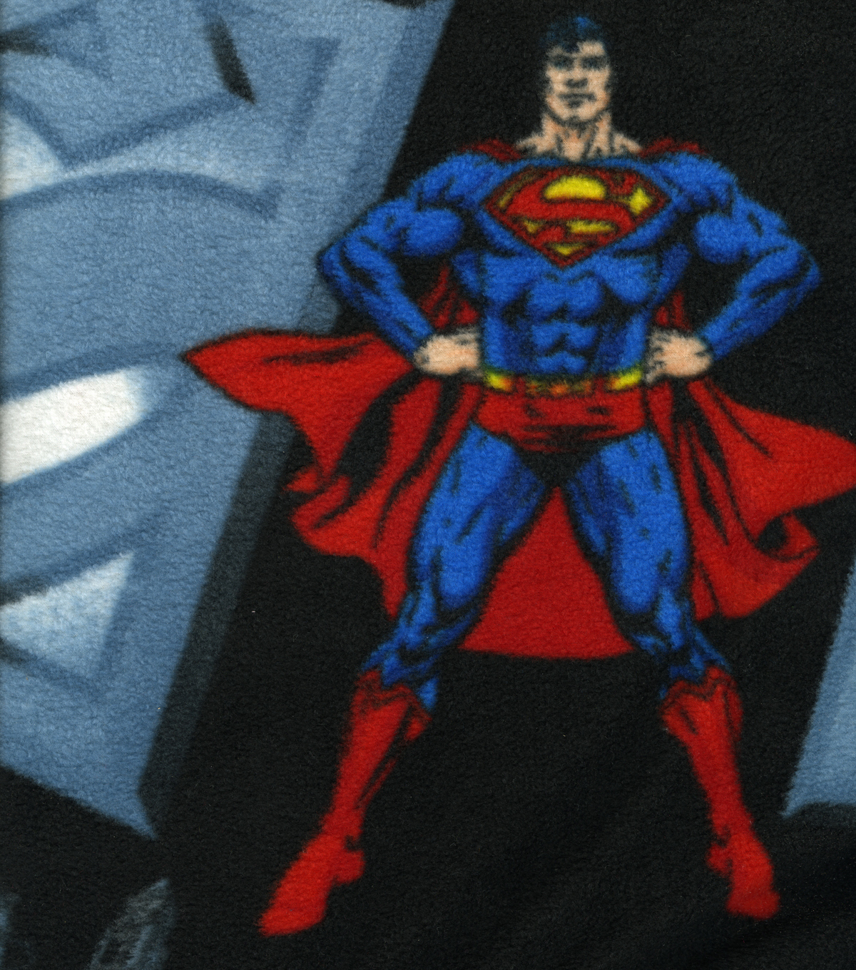 Superman Fleece Fabric Multi-Colored Patterns and Various Sizes