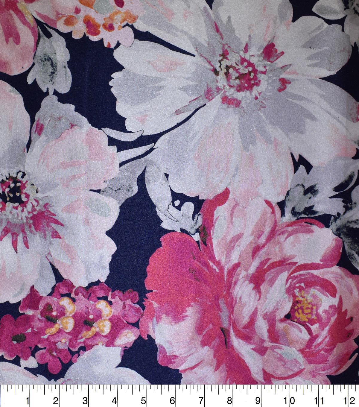 Gianna Printed Charmeuse Fabric 43\u0027\u0027-Watercolor Floral