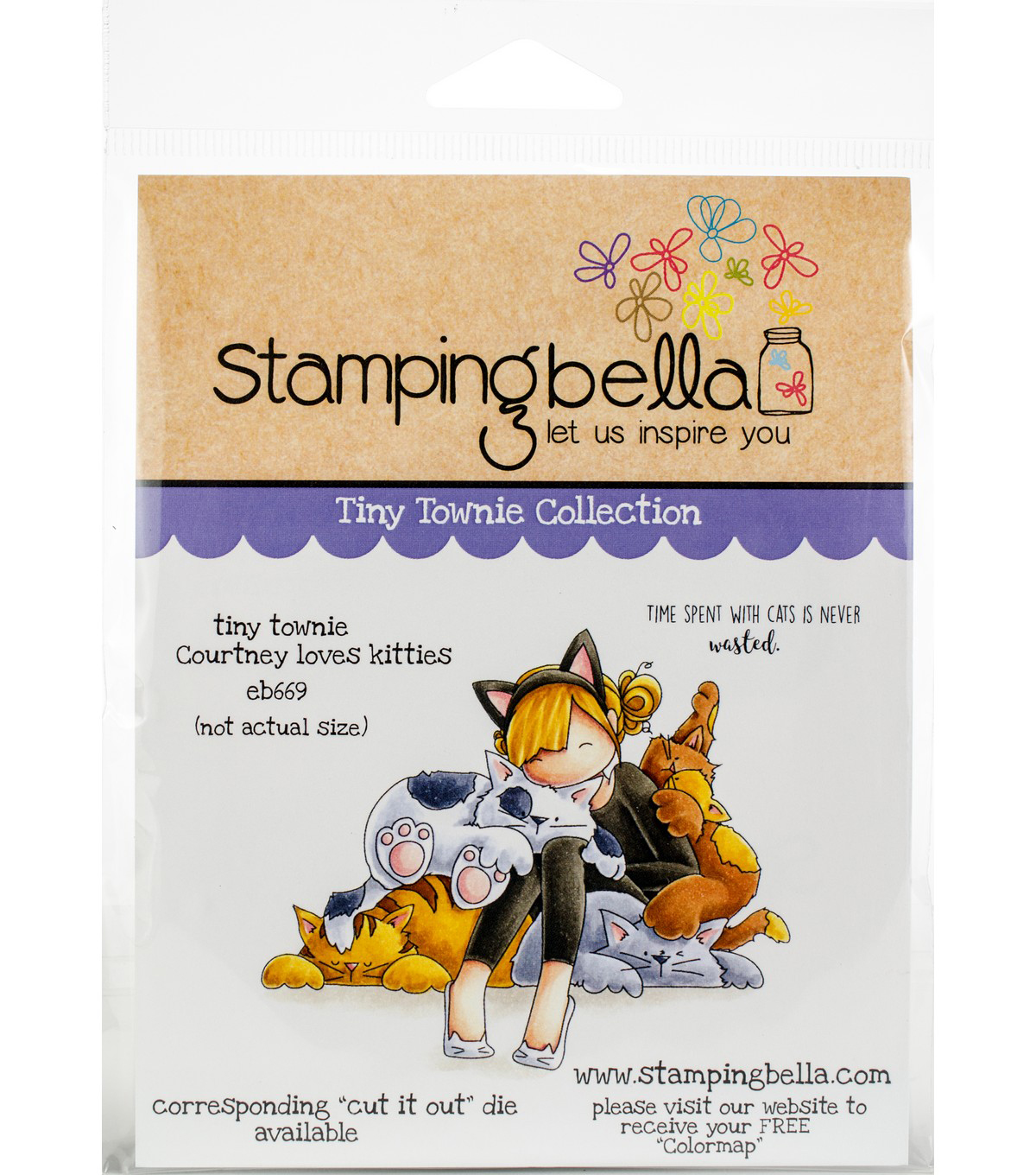 Stamping Bella Cling Stamps-Tiny Townie Courtney Loves Kitties