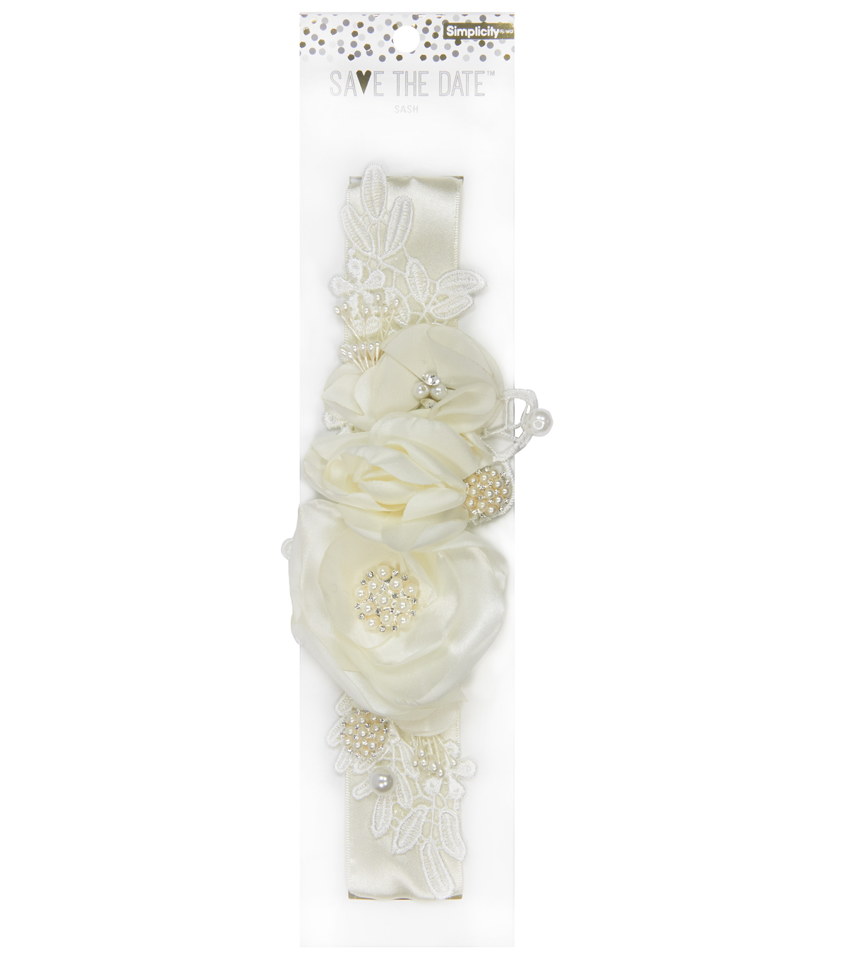Save The Date Floral Sash-Ivory