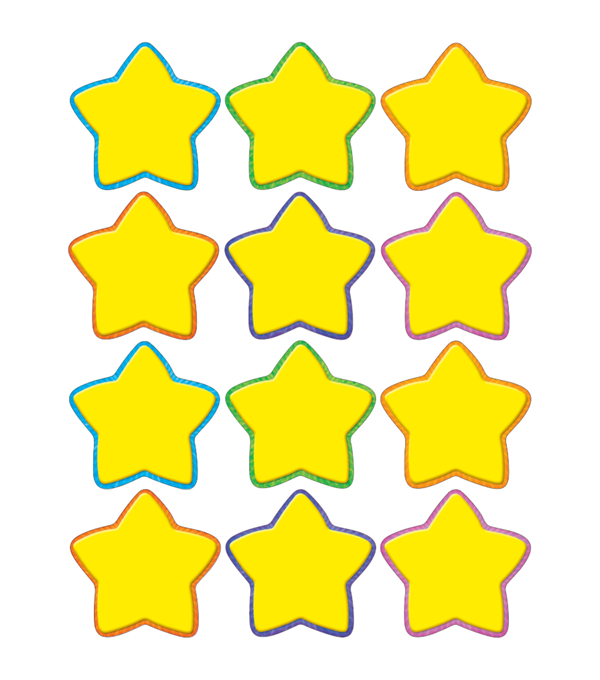 Yellow Stars Mini Accents 36/pk, Set Of 12 Packs