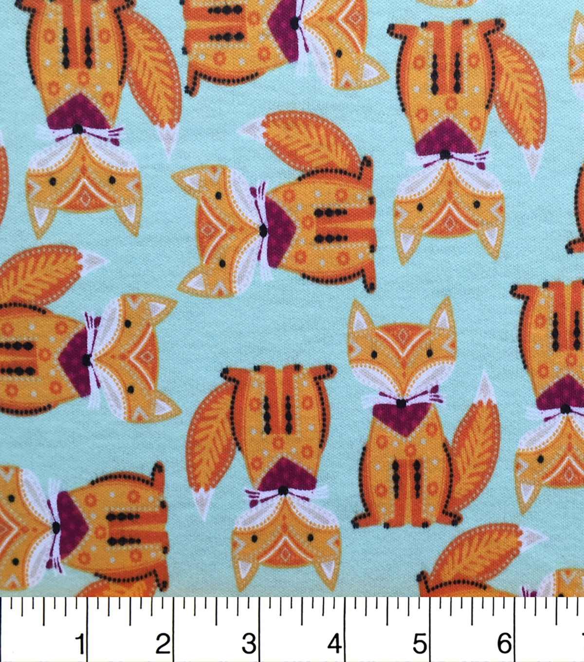 Doodles Juvenile Apparel Fabric-Foxes Interlock