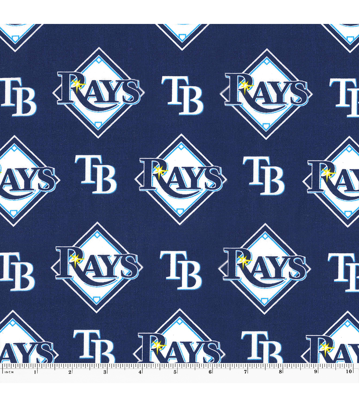 Tampa Bay Devil Rays Cotton Fabric -Logo