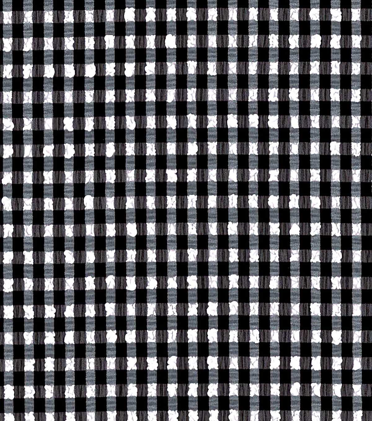 Performance Fabric Swim Seersucker Gingham Black White Joann