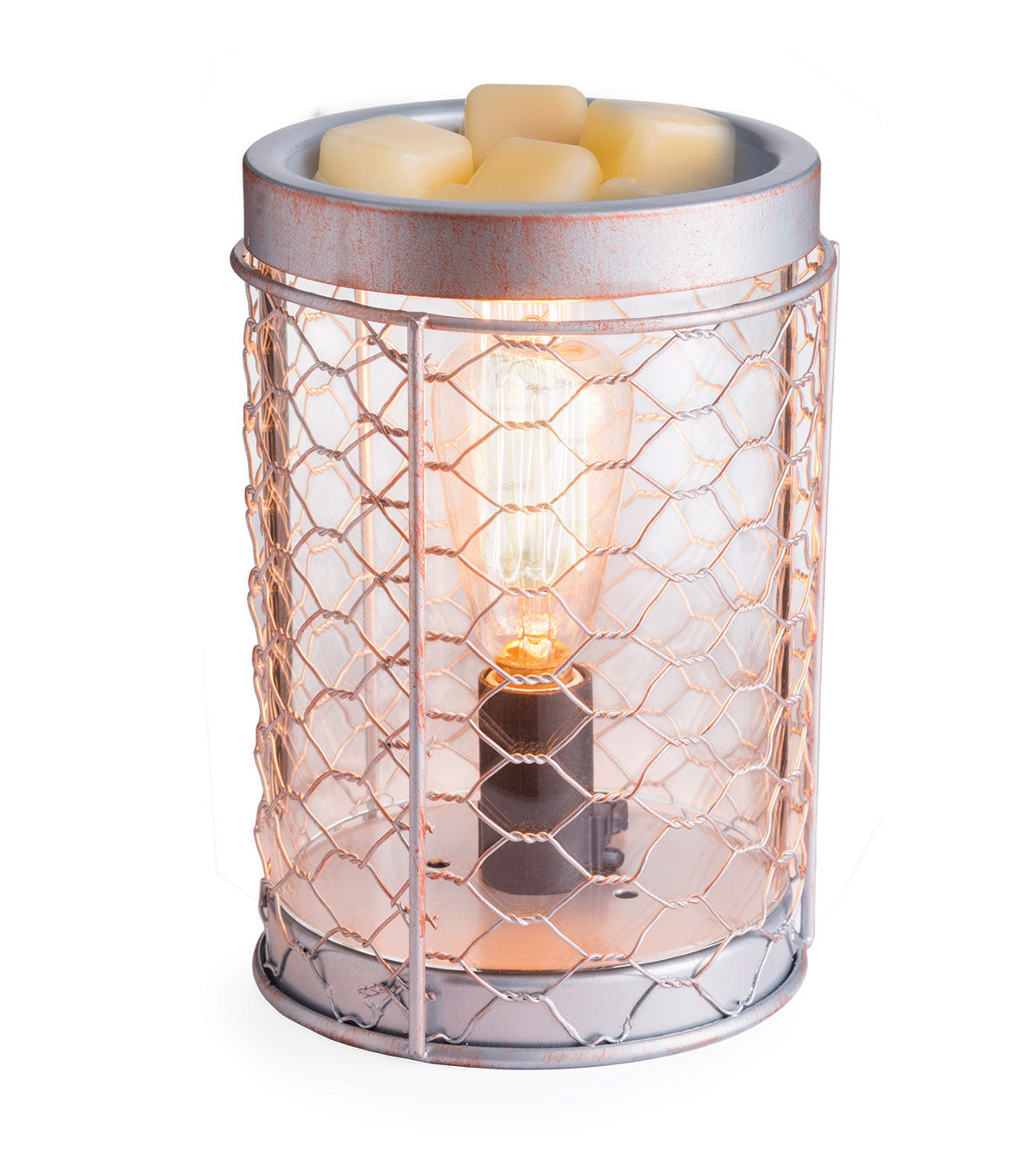 Edison Bulb Chicken Wire Illumination Fragrance Wax Warmer