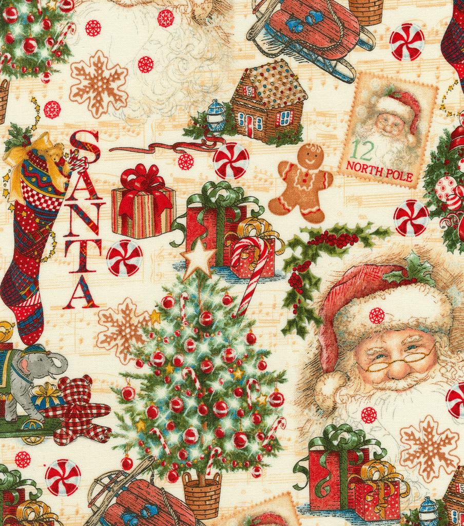 christmas cotton fabric 44u0022 christmas gifts - Joann Fabrics Christmas Decorations