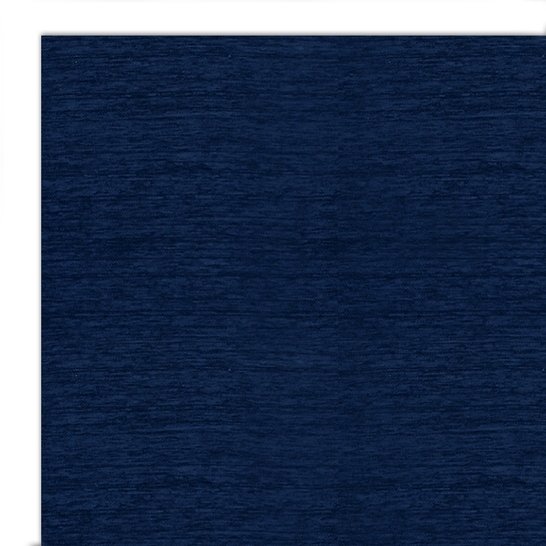 Ruggable 2pc Washable Rug System Solid Chenille Navy Blue
