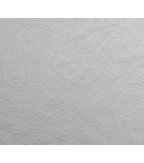 Silky Solid Jacquard Fabric -White
