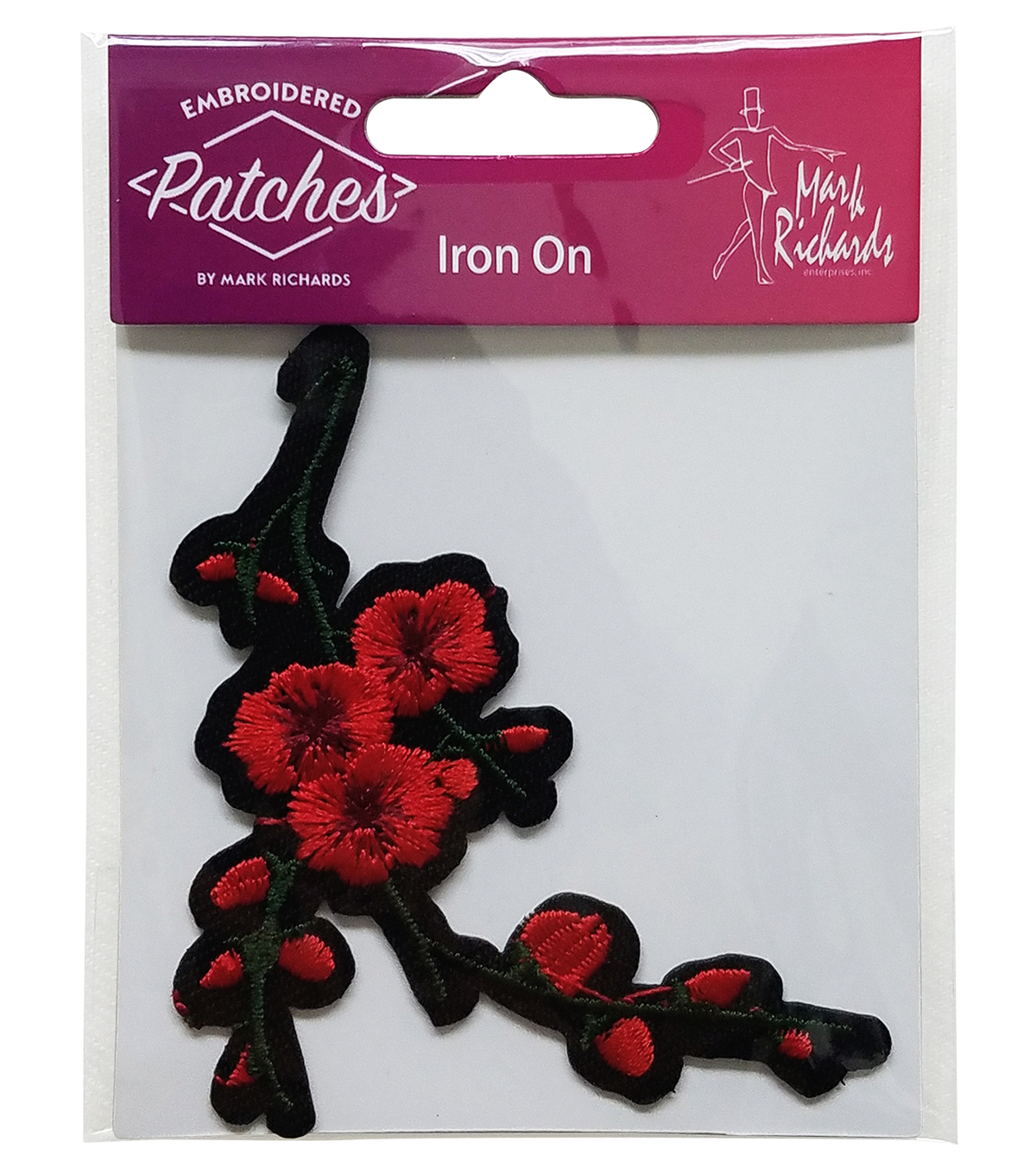Embroidered Iron-On Patch-Cherry Blossoms
