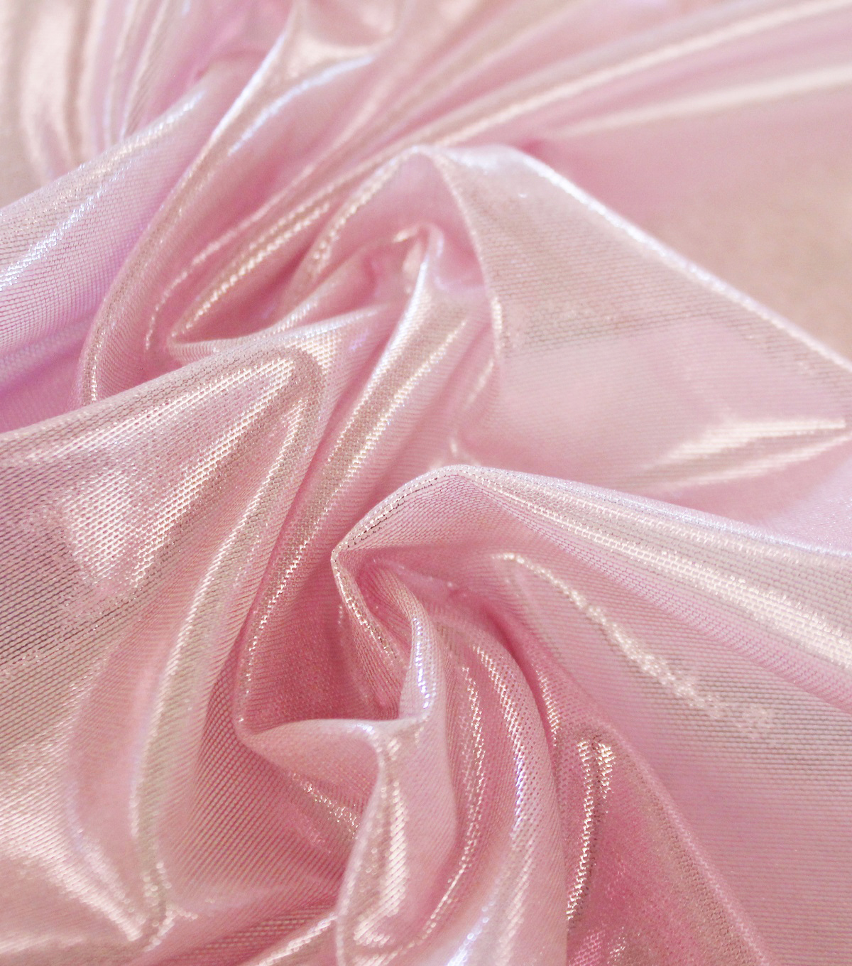 Dance Performance Ultra Sheen Foil Mesh Fabric-Taffy Pink