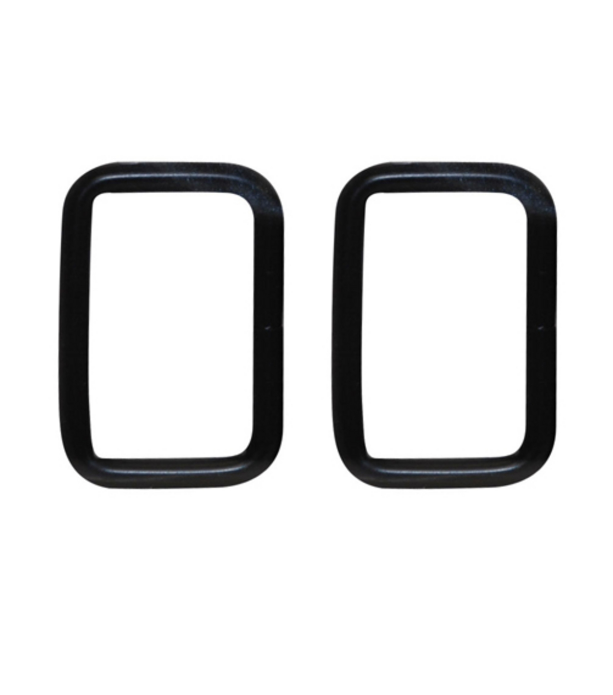 Everything Mary Black 1.5\u0022 Rectangle Rings-2pk