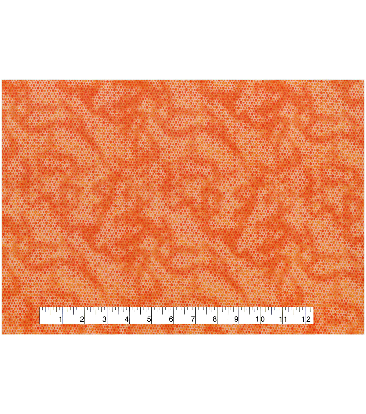 Keepsake Calico Cotton Fabric 43\u0022-Orange Honeycomb Blender