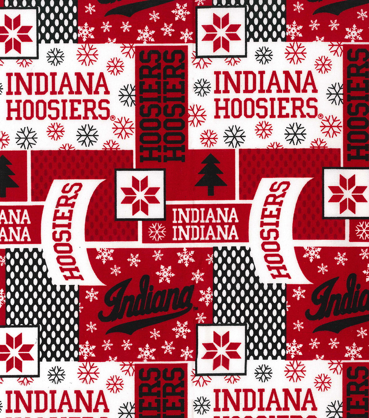 Indiana University Hoosiers Cotton Fabric-Winter