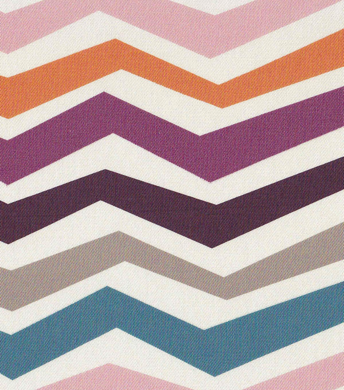 Modern Essentials 54\u0022 Print Fabric-Purple Stretch Chevron