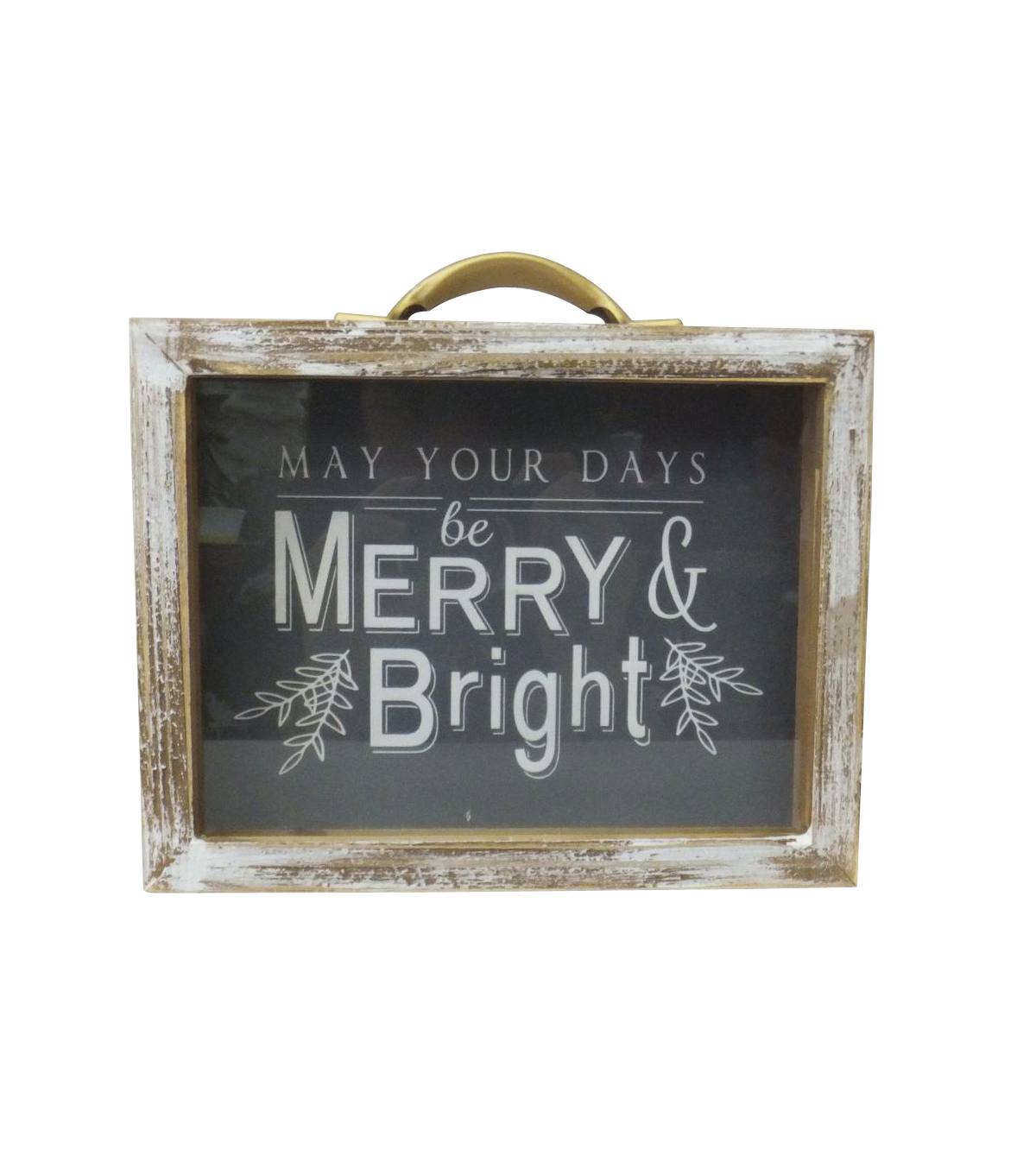 Maker\u0027s Holiday Christmas Shadow Box-May Your Days Be Merry & Bright