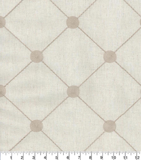 Kelly Ripa Home Multi-Purpose Decor Fabric 54\u0022-Fanfare Embroidery Pebble
