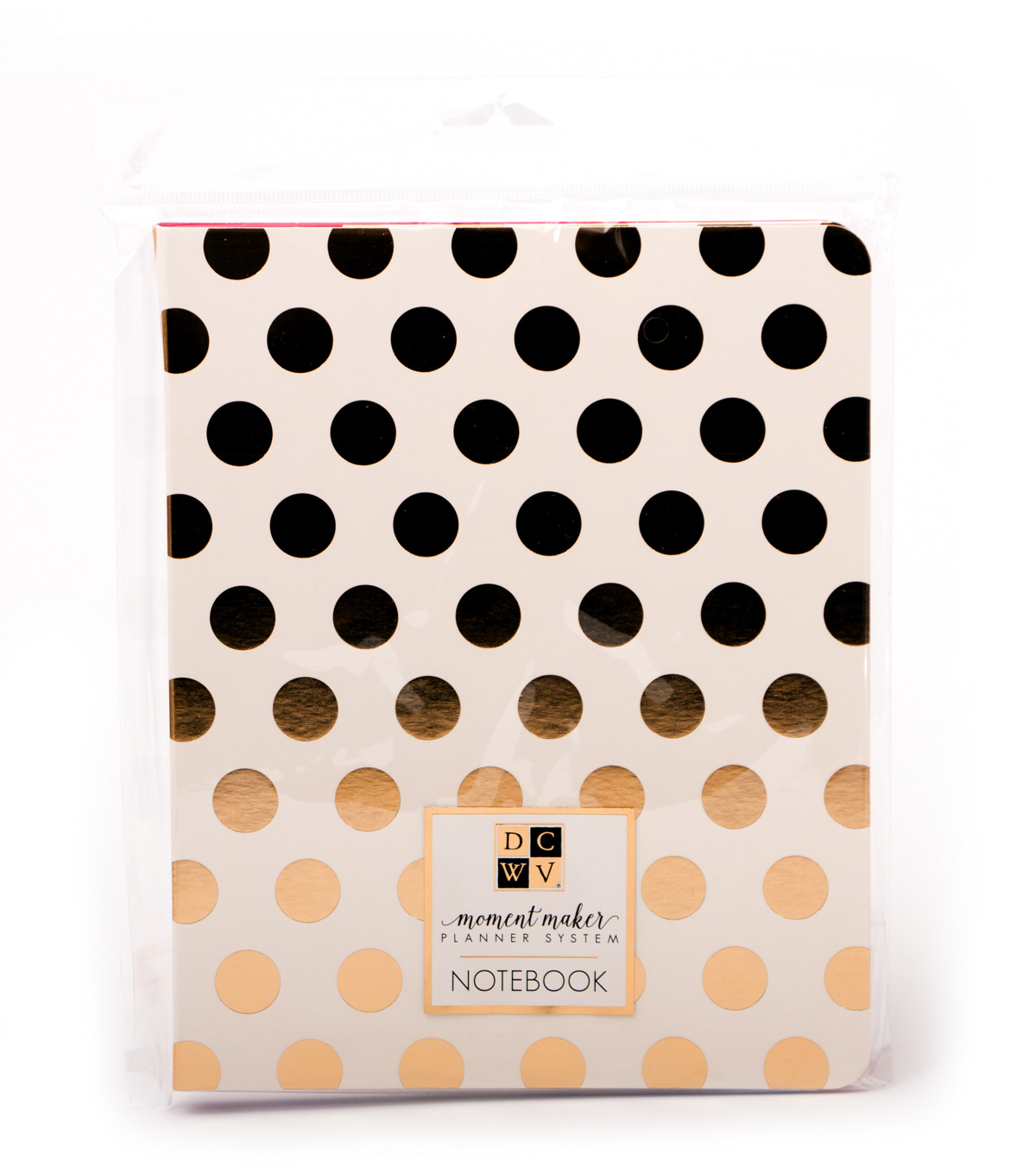 DCWV Moment Maker Notebook-Gold Dots