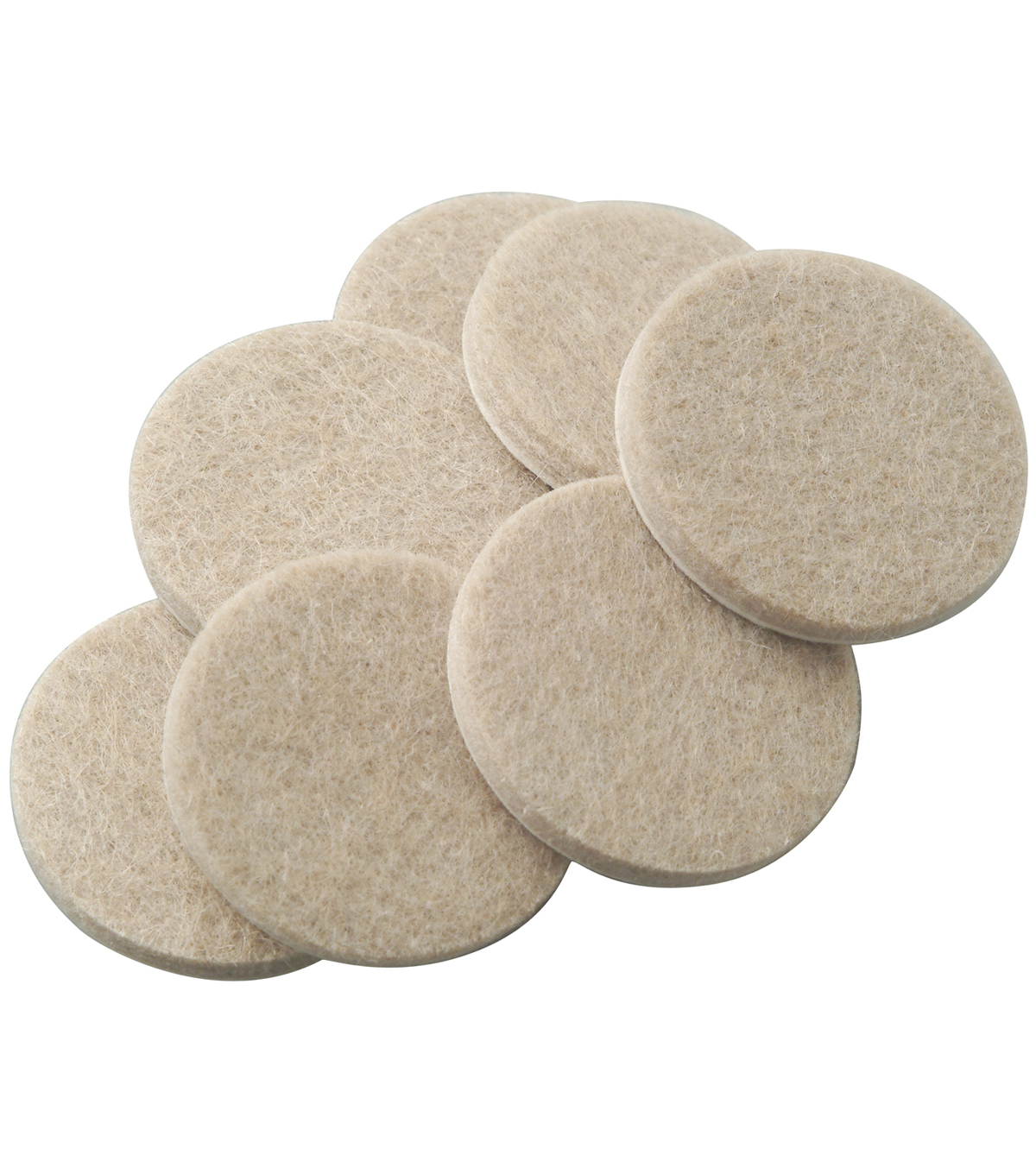 SoftTouch 20 pk 0.75\u0027\u0027 Self-Stick Furniture Felt Pads-Oatmeal