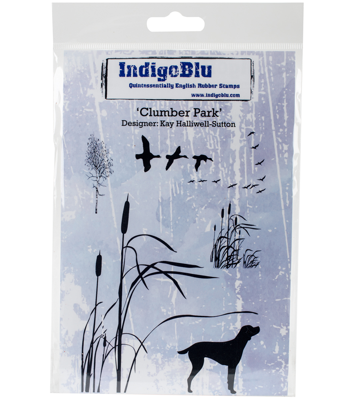 IndigoBlu 6 pk Red Rubber Stamps-Clumber Park