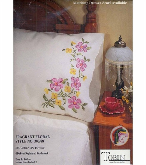 Tobin Stamped Pillow Case Pair Fragrant Floral