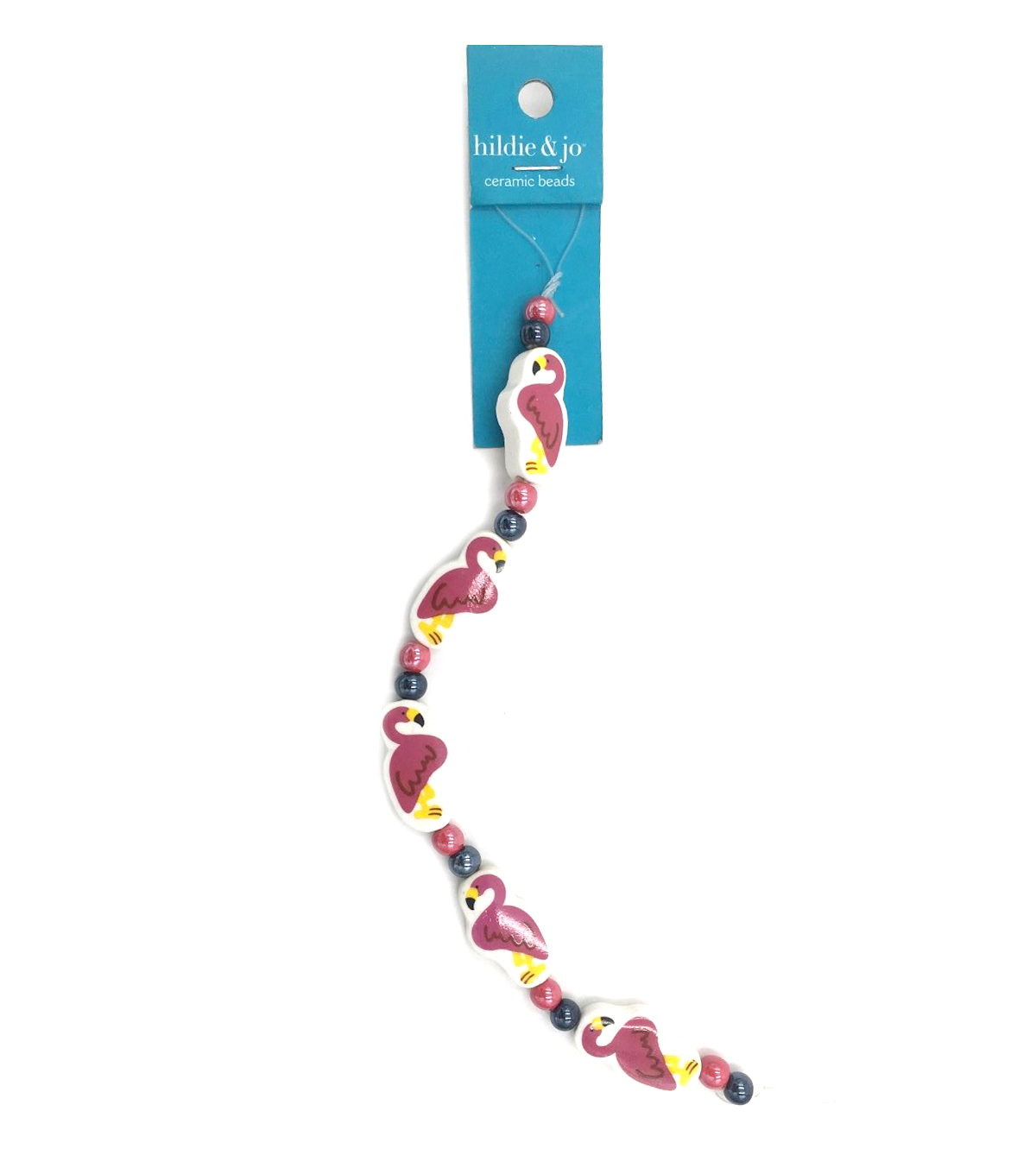 Pink Flamingo Beads, 7-inch Strand