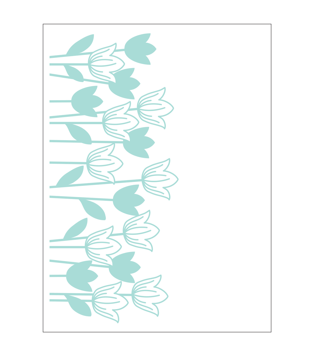 Park Lane A2 Embossing Folder-Tulips