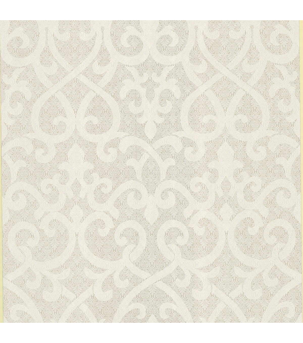 Giselle Champagne Ironwork Damask  Wallpaper Sample