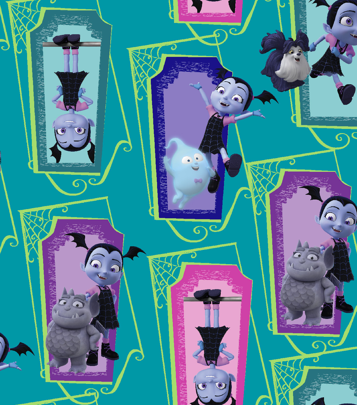 Disney Junior Vampirina Cotton Fabric 43\u0027\u0027-Supernatural Friends