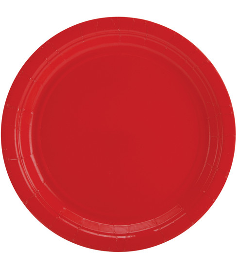 Amscan Big Party Pack 7\u0027\u0027 Lunch Paper Plates-60PK, Red