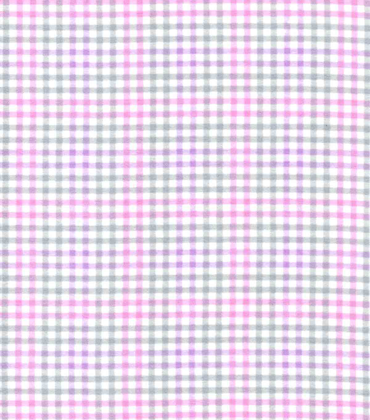 Quilter\u0027s Flannel Fabric-Stork Gingham Light Pink