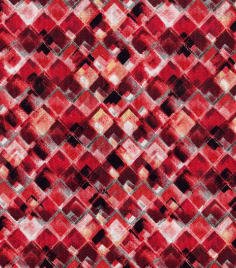 Modern Cotton Fabric 43\u0022-Packed Tonal Triangles Red