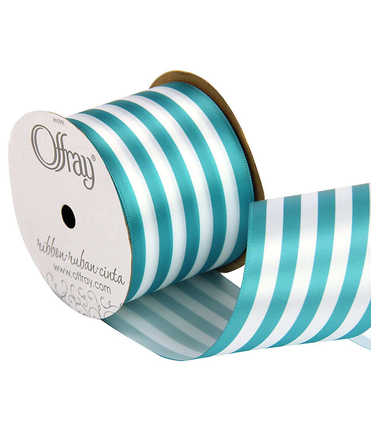 2 And One Qtr Island Blues Stripe Ribbon