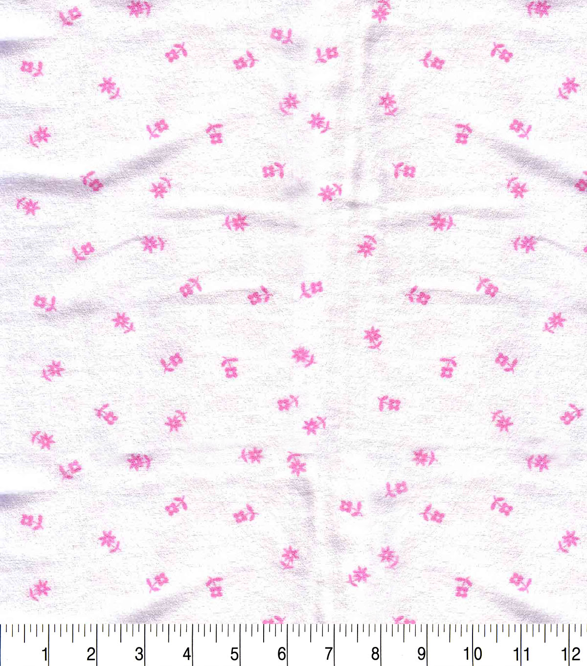 Snuggle Flannel Fabric -Pink Posy