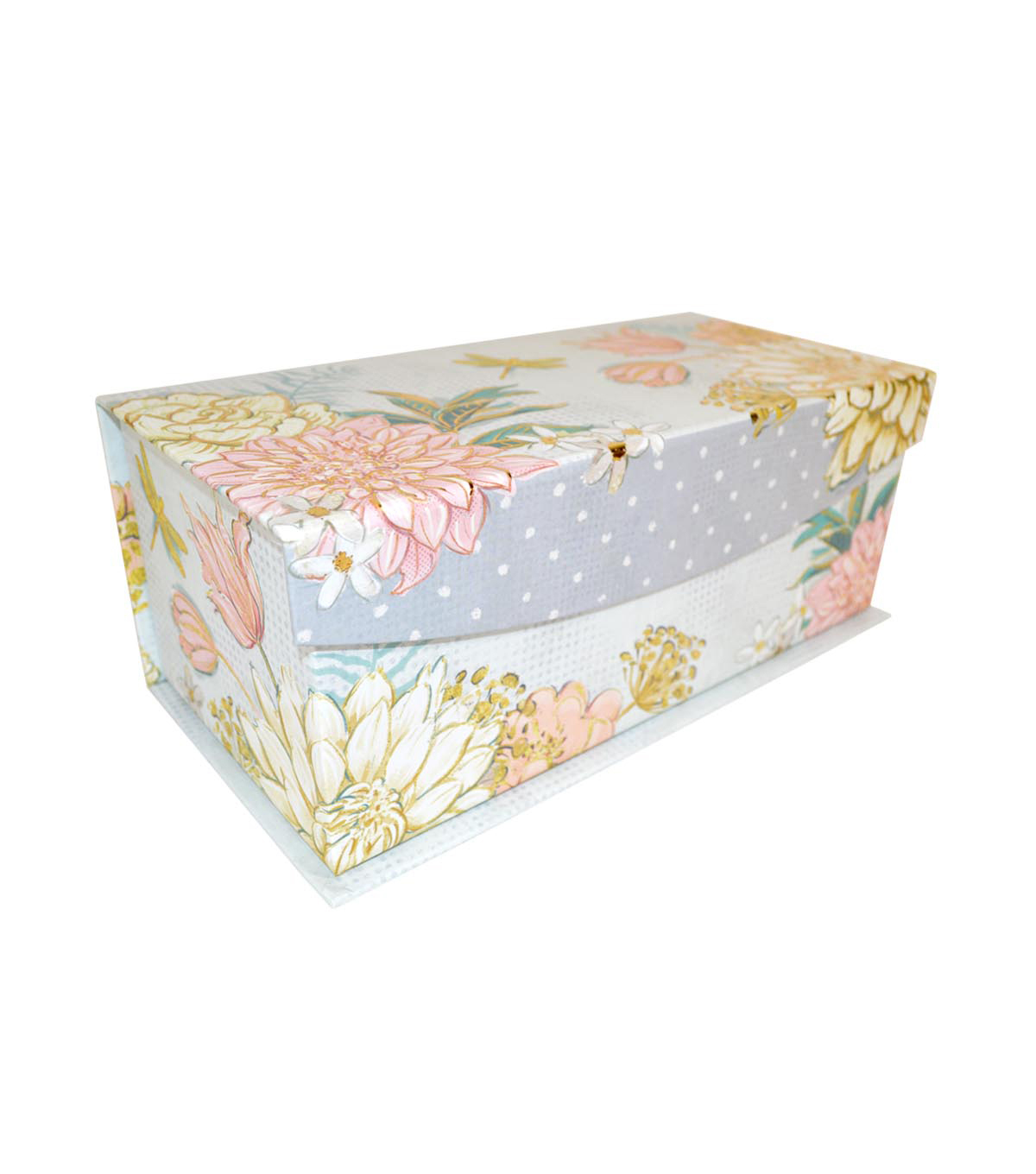 Medium Decorative Flip Top Storage Box-Blush Gold