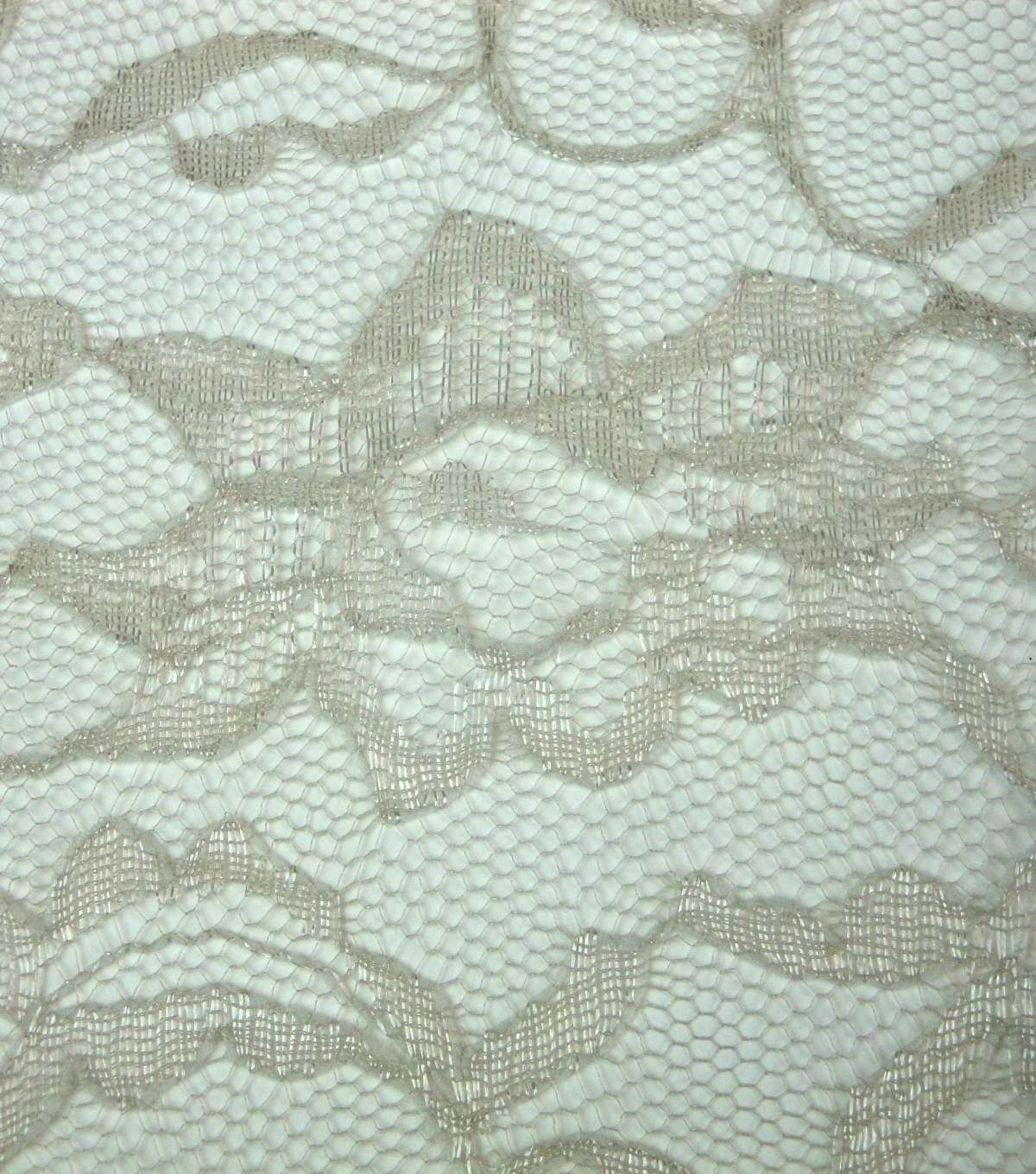 Casa Collection Lace Fabric -Silver Lining