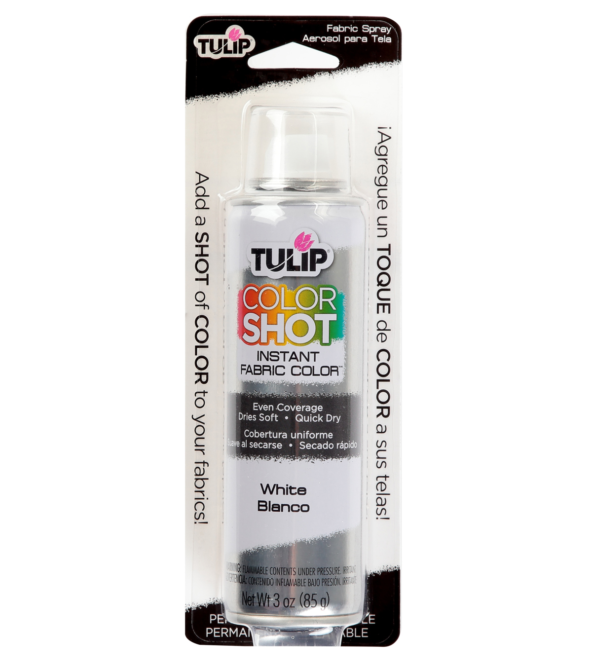Tulip ColorShot Instant Fabric Color Spray 3oz, White