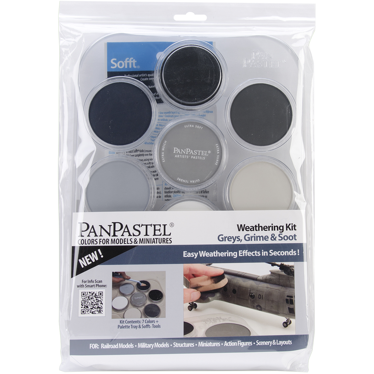 Pan Pastel Ultra Soft Artist Pastel Set Weathering Grays,Grime And Soot