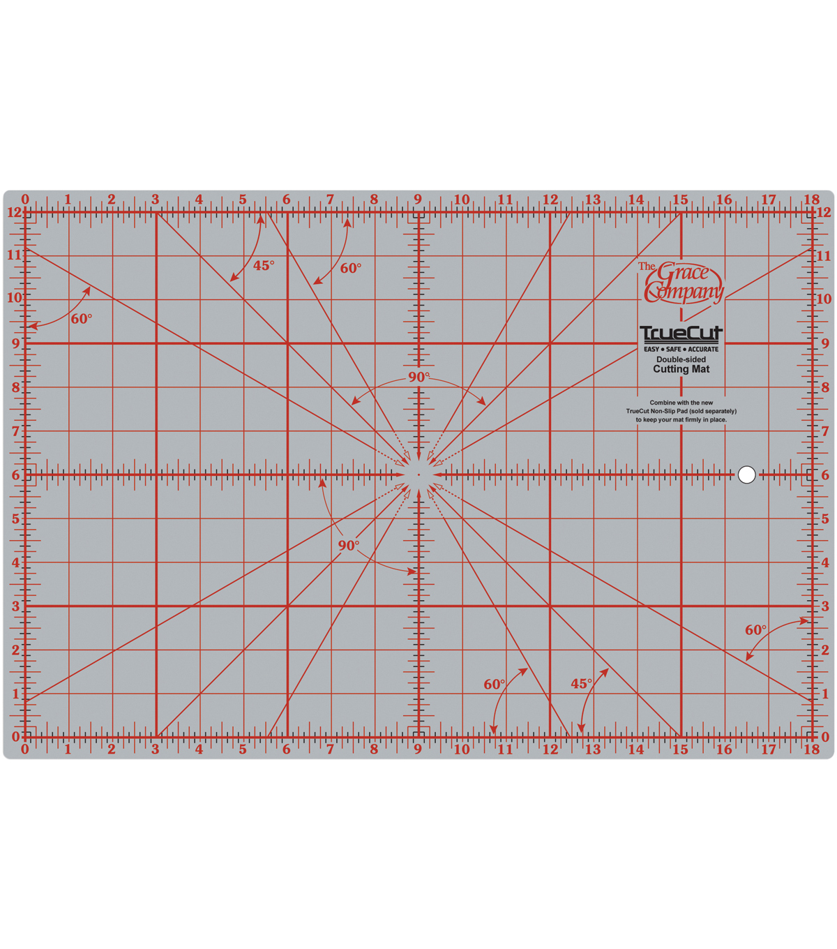 TrueCut Double Sided Rotary Cutting Mat 12\u0022 X 18\u0022