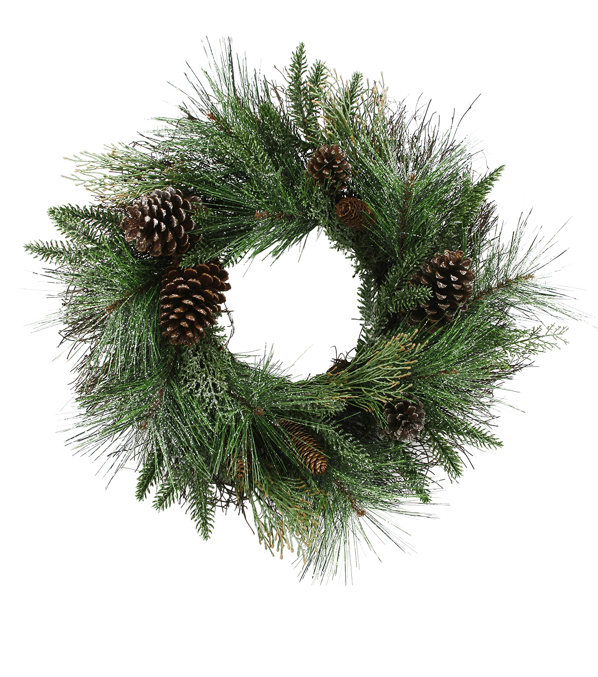 Handmade Holiday Christmas Cedar Pine & Pinecone Wreath