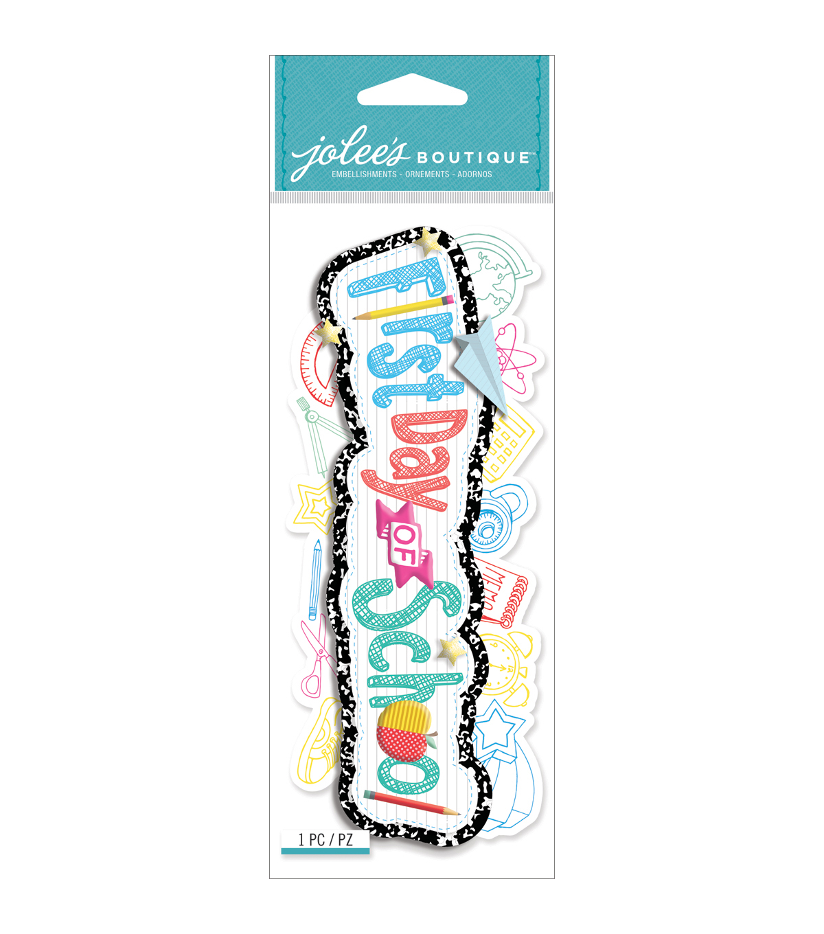 Jolee\u0027s Boutique Title Wave Dimensional Stickers-First Day Of School