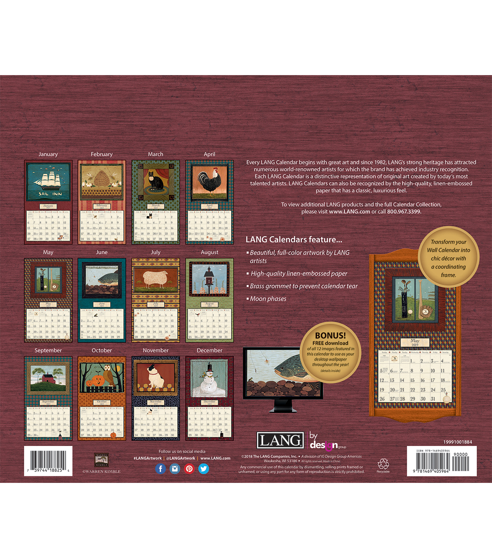The Lang Companies Inc Warren Kimble 2019 Wall Calendar