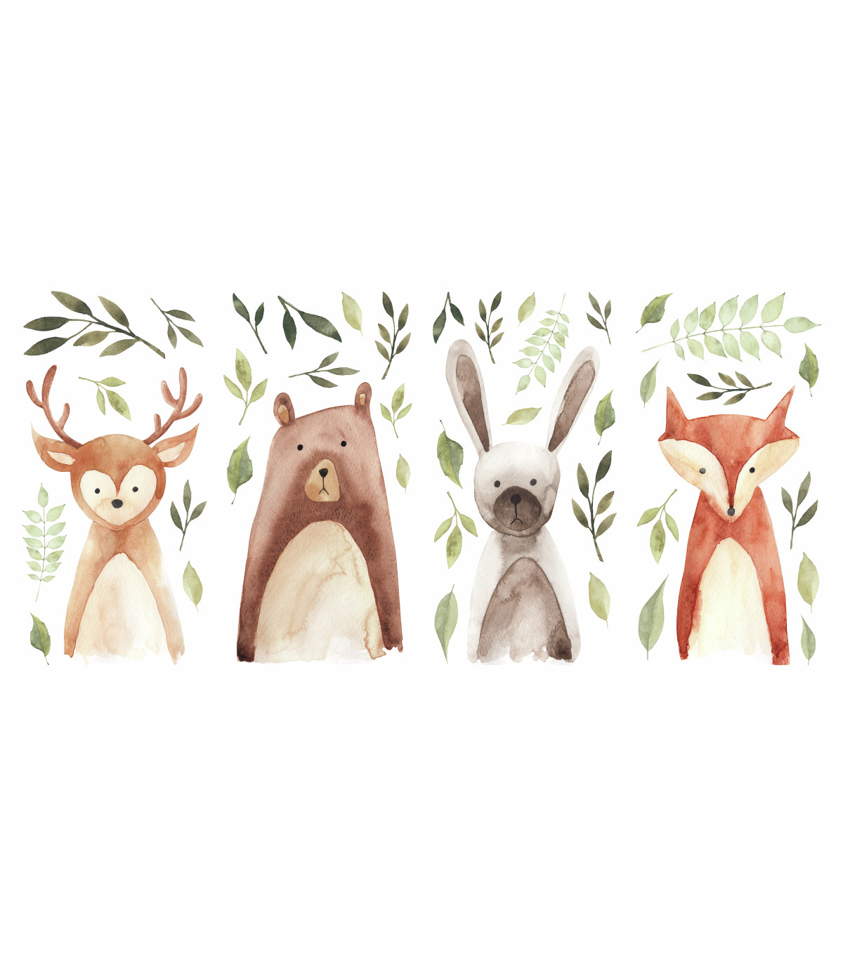 York Wallcoverings Wall Decals-Watercolor Woodland Critters