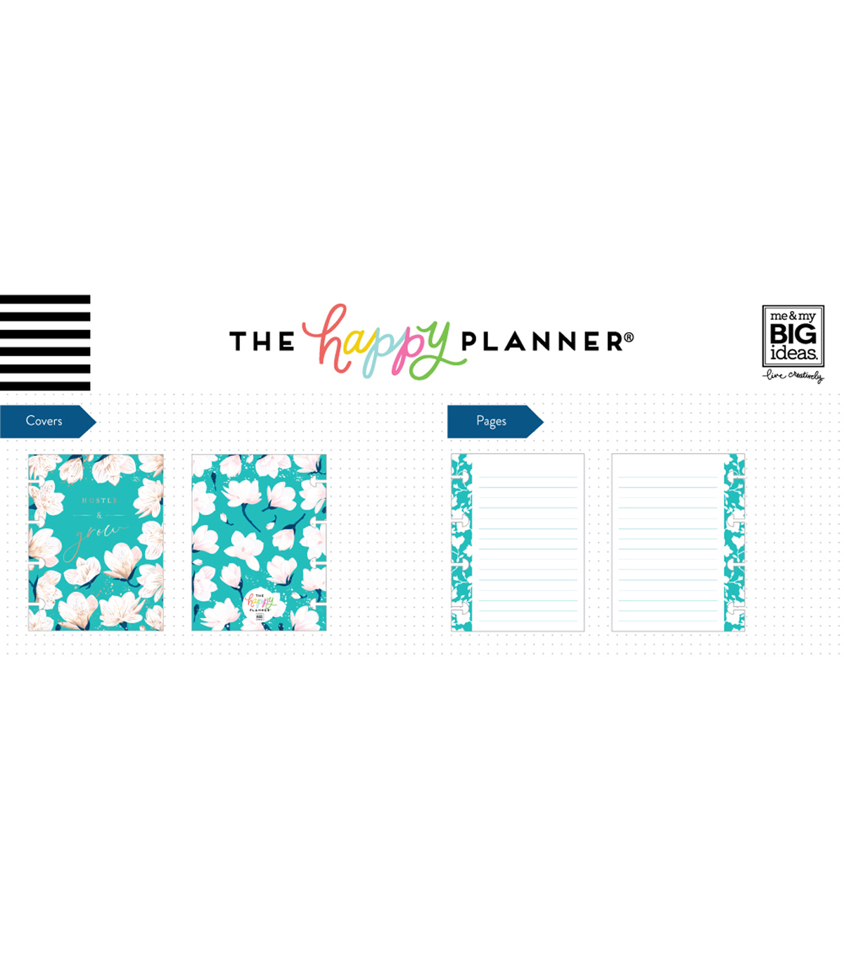 The Happy Planner Happy Notes 60-sheet Micro Notebook-Hustle & Grow