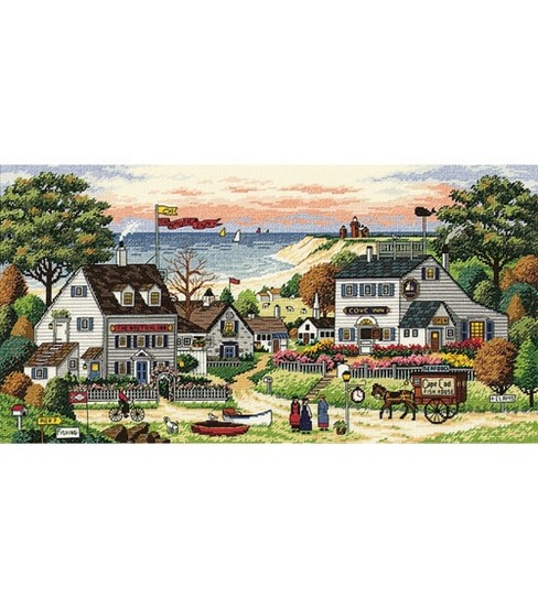 Dimensions Gold Collection Counted Cross Stitch Kit Cozy Cove