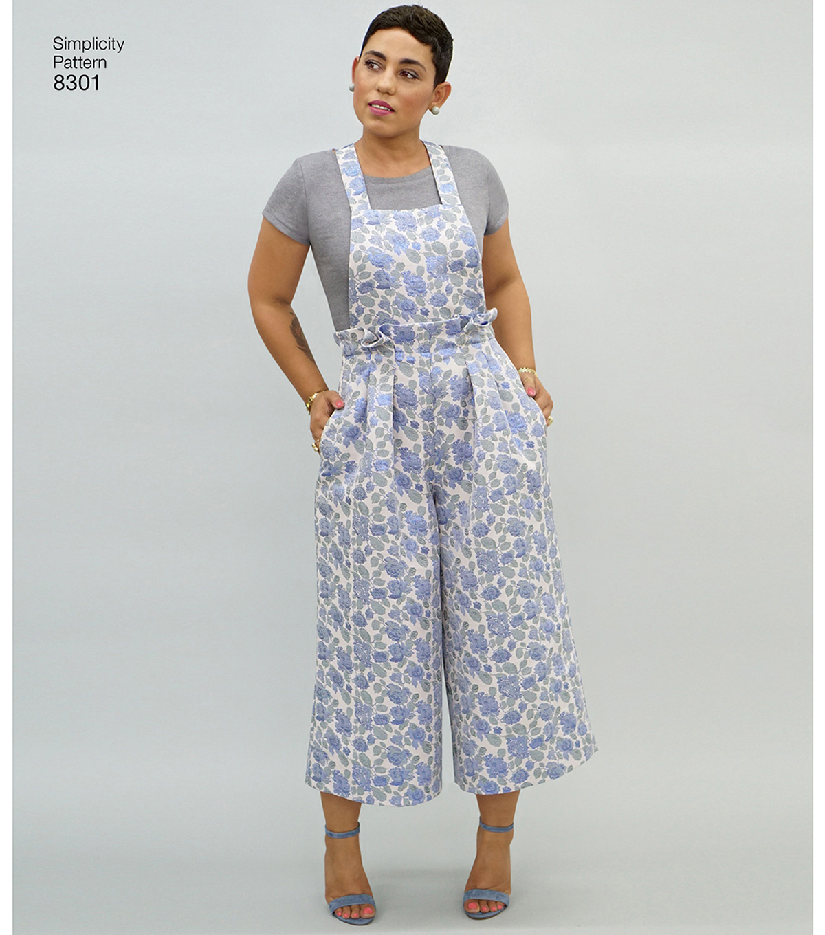 Simplicity Pattern 8301 Misses\u0027 Overalls, Jumper & Top-Size H5 (6-14)